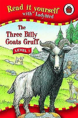 """""""AS NEW"""" Ladybird, Read It Yourself: The Three Billy Goats Gruff - Level 1, Hard"""