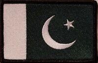Pakistan Flag Patch With Velcro® Brand Fastener Emblem Black Border