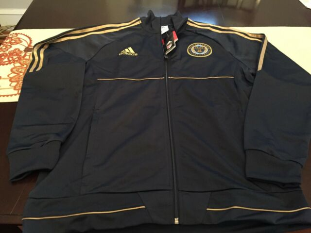 0030aae8fcb4 Mens adidas Philadelphia Union Anthem Track Jacket Navy gold XL