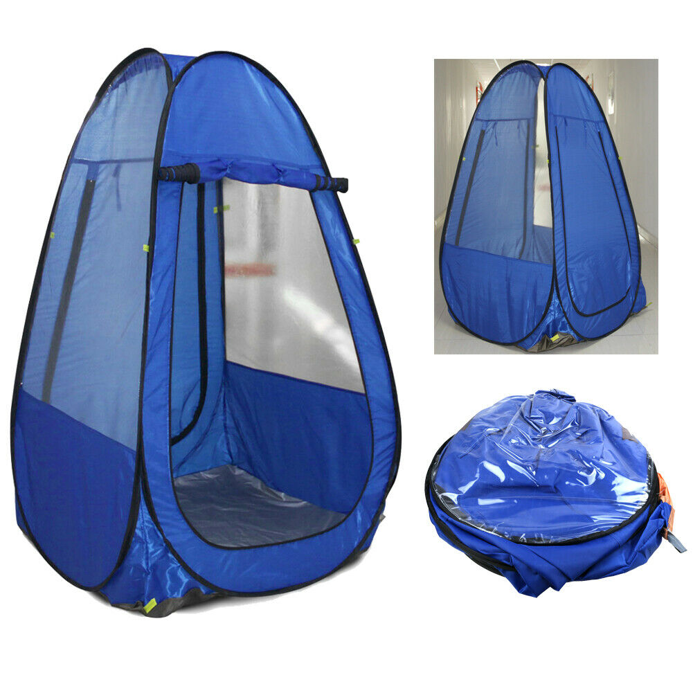 Outdoor Camping Single Pop up Tent Sports Pod Under Water Watching Sport Blue UK