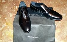 Scarpe classiche ARMANI n. 41,5 (7,5)uomo nuove in pelle nera.