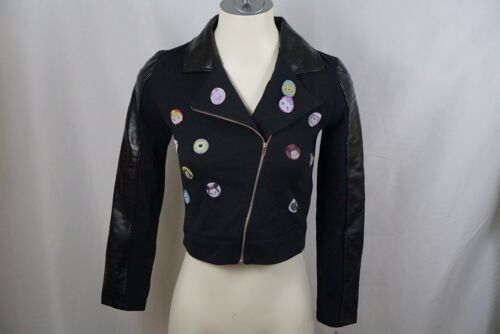 10-12 Details about  /NWT Disney D-Signed Girl Tsum Tsum Special Edition Moto Jacket Sz M $50