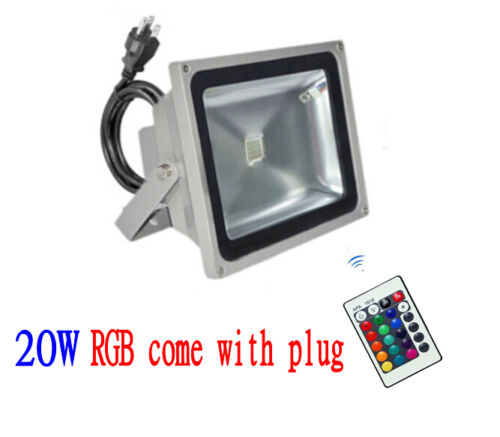 50W 30W 20W10W LED Flood light Outdoor Landscape Lamp Black // Grey)
