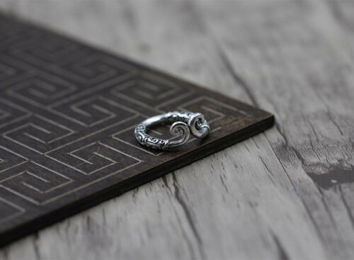 S925 hommes et femmes silver ring Norse Viking Warriors Sun inhibition Ring