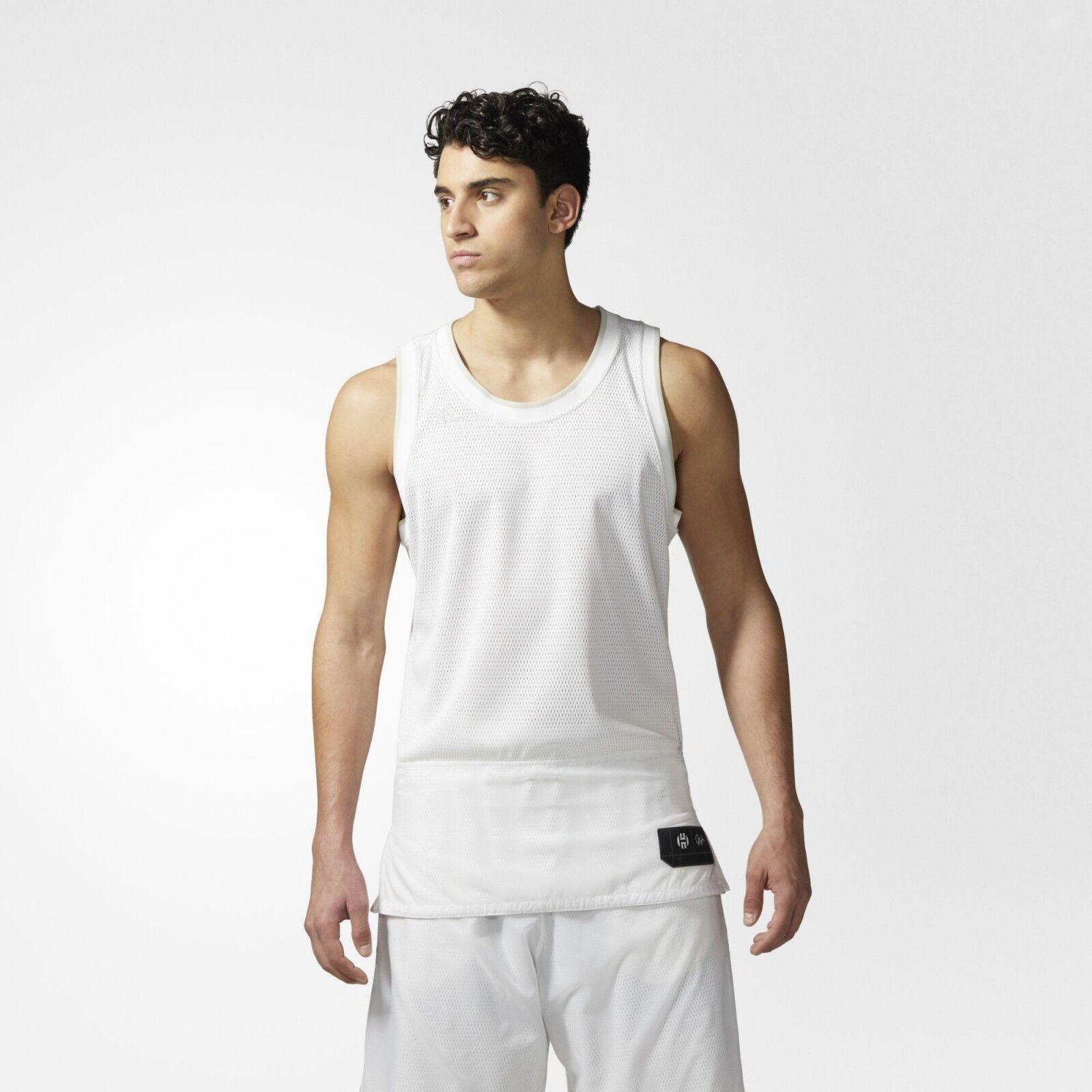 Adidas Mens James Harden Volume 1 Playmaker Basketball Jersey  Save 40% Large
