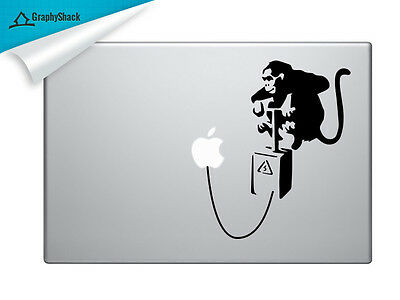 Banksy Monkey Mac Decal Laptop Sticker Mac Decals for 13 15 17 inch ask for 11in