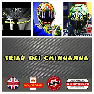 valentino rossi tribu dei chihuahua visier helm aufkleber. Black Bedroom Furniture Sets. Home Design Ideas