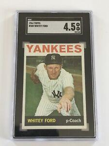 1964 Topps Whitey Ford #380 SGC 4.5 Baseball Card New York Yankees
