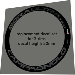 CAMPAGNOLO BORA ULTRA TWO ALL GREY 3D DESIGN REPLACE RIM DECAL SET FOR 2 RIMS