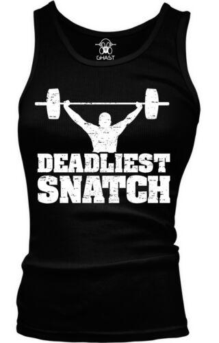 Deadliest Snatch Lifting Weights Exercise Workout WOD Boy Beater Tank Top