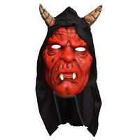 Adult Devil Hooded Mask Halloween Fancy Dress Costume Accessory