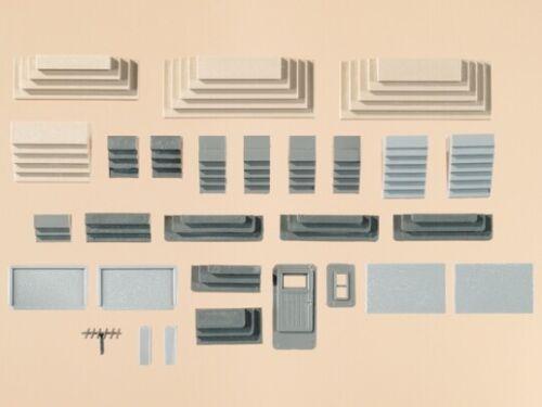Auhagen 48646 HO TT Verschiedene Treppen 17 Stück unterschiedliche Formen Größ