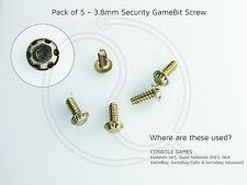 5 x 3.8mm Gamebit Security Screws Nintendo Nes, Snes, N64, Gameboy cartridges
