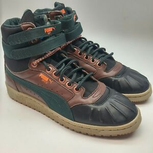 8cb31a88eac 365930-01  Mens Puma Sky II Hi Duck Winter Boot Sneaker Brown Black ...