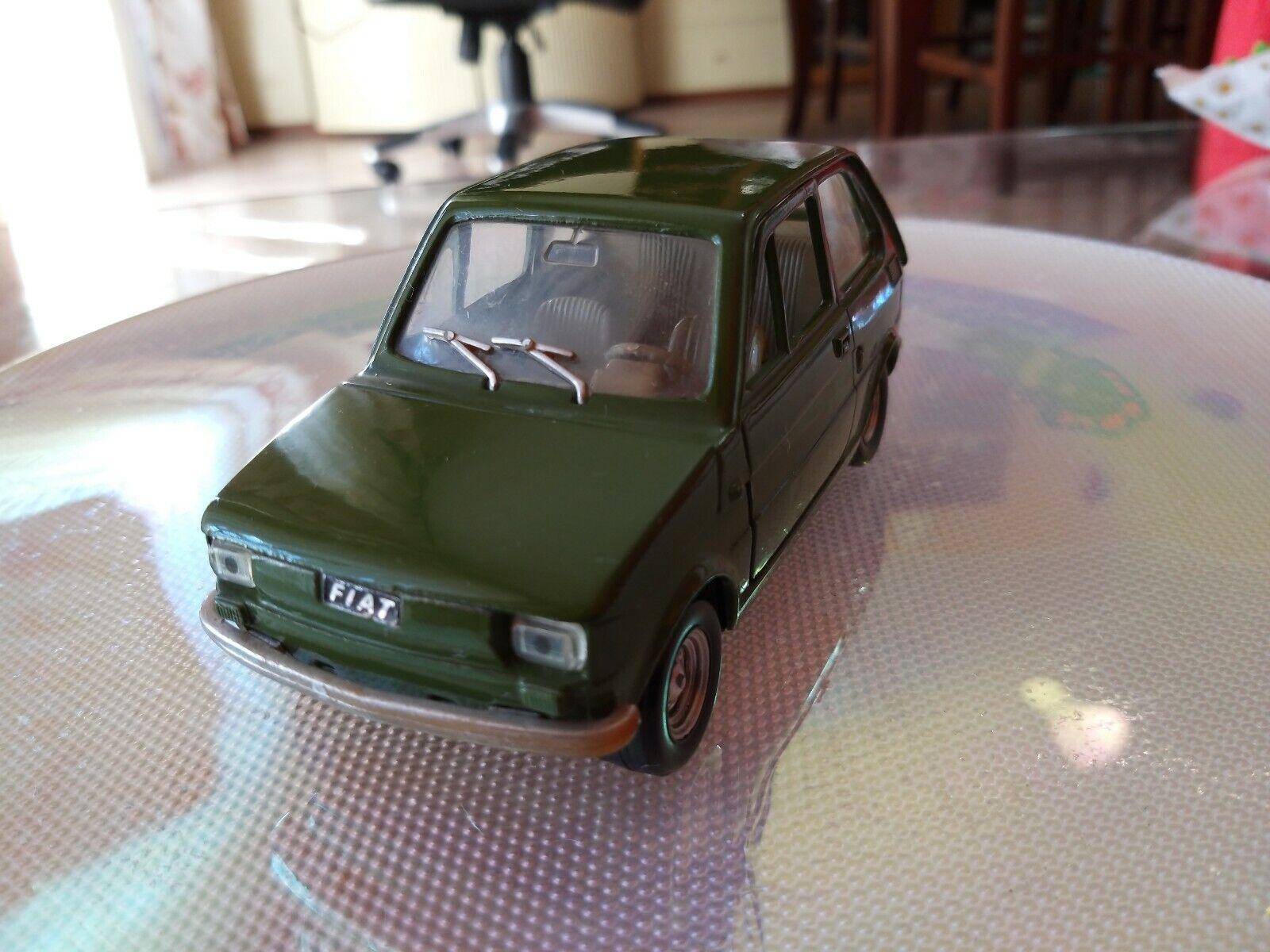 Rarissimo Modellino verde Fiat 126 POLITOYS S.17 MADE IN ITALY apertura 4 porte