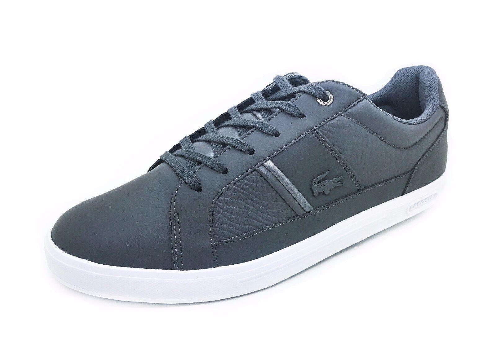 New Lacoste Men's Fashion Europa 417 Grey Sneaker shoes
