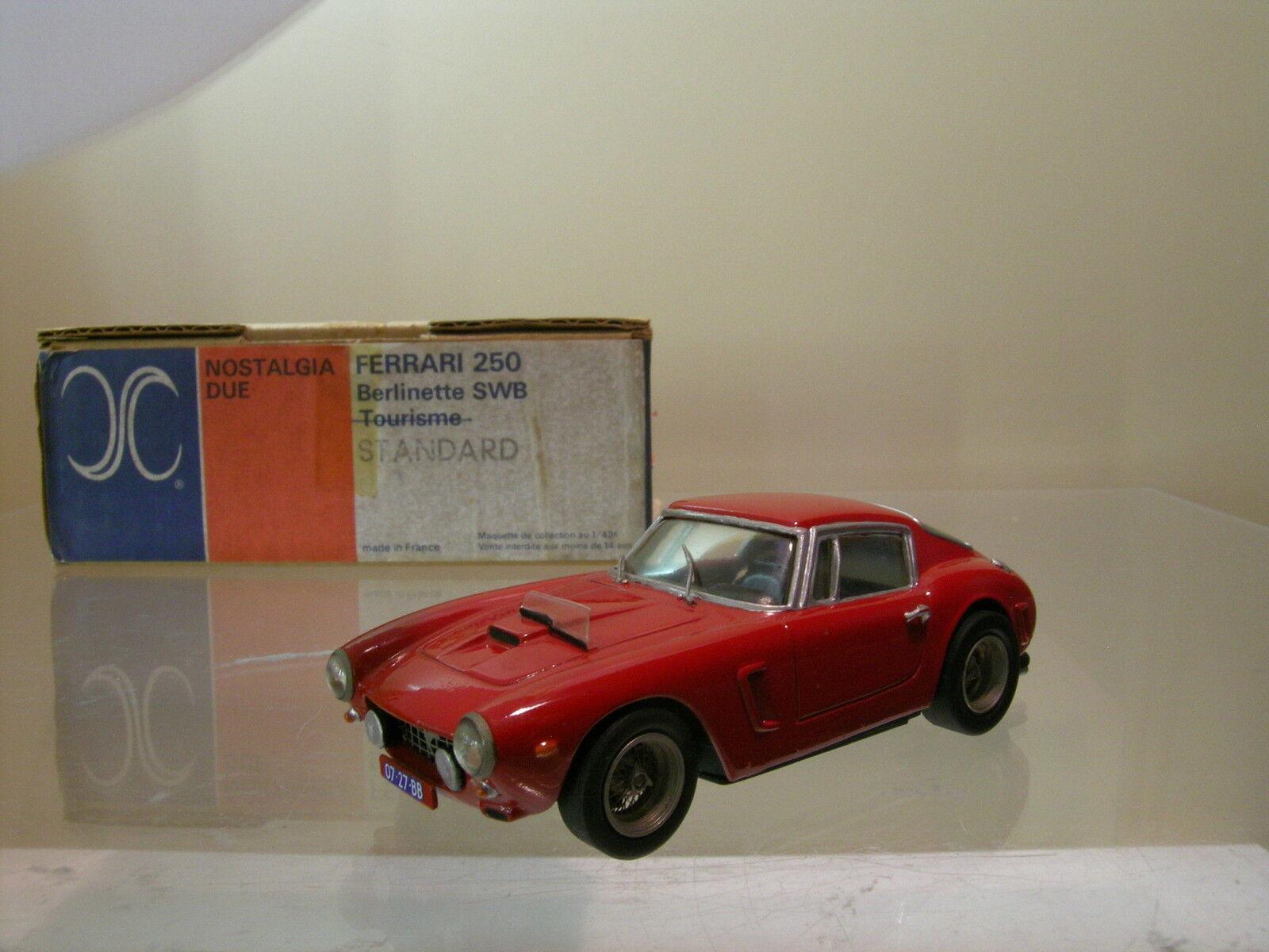 AMR FRANCE NOSTALGIIA DUE FERRARI 250 SWB BERL.1961 rouge HANDBUILT SCALE 1 43