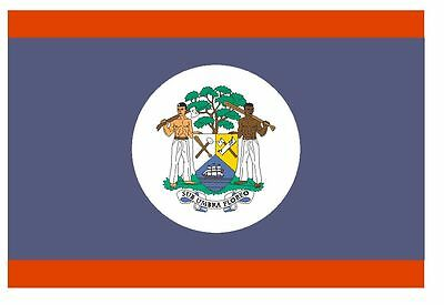 BELIZE Flag Sticker MADE IN USA F52 YOU CHOOSE SIZE