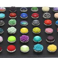 10pcs Randomly mix 3D 18mm snaps Chunk Charm Button for Noosa leather Bracelets