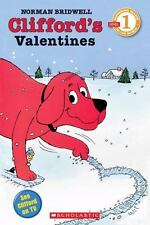 Kids Scholastic Reader Lvl 1:Clifford's Valentines,Norman Bridwell-get,give card