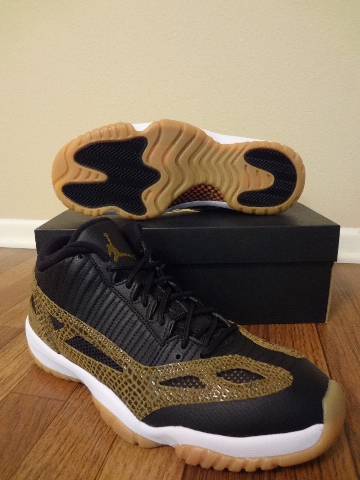 Nike air jordan xi xi jordan 11 retro - geringe größe 11 schwarzen miliz