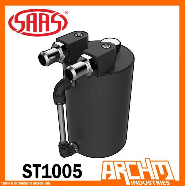SAAS 500cc Oil Catch Can Aluminium Black Tank Fitting Mount Kit 10mm 14mm ST1005