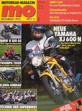 MO9311 + Test YAMAHA XJ 600 N + Dauertest BMW R 100 GS + MO 11/1993