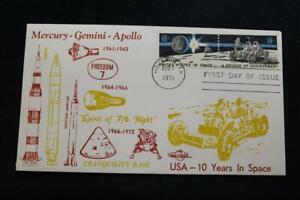 Space-Cover-1971-1ST-Giorno-Problema-Onore-AMERICA-039-S-Space-Achievements-2169