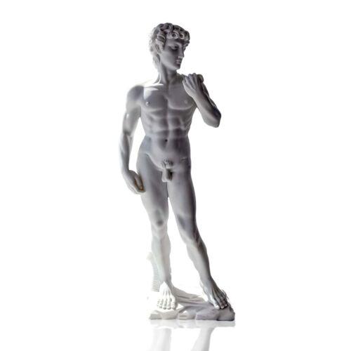 Scultura David Michelangelo in Polvere di Marmo Italian Marble Sculpture H.40cm