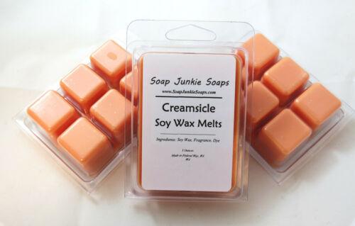 Creamsicle Scented Soy Wax Melts Vegan 6 Cavity Clamshell Orange Vanilla