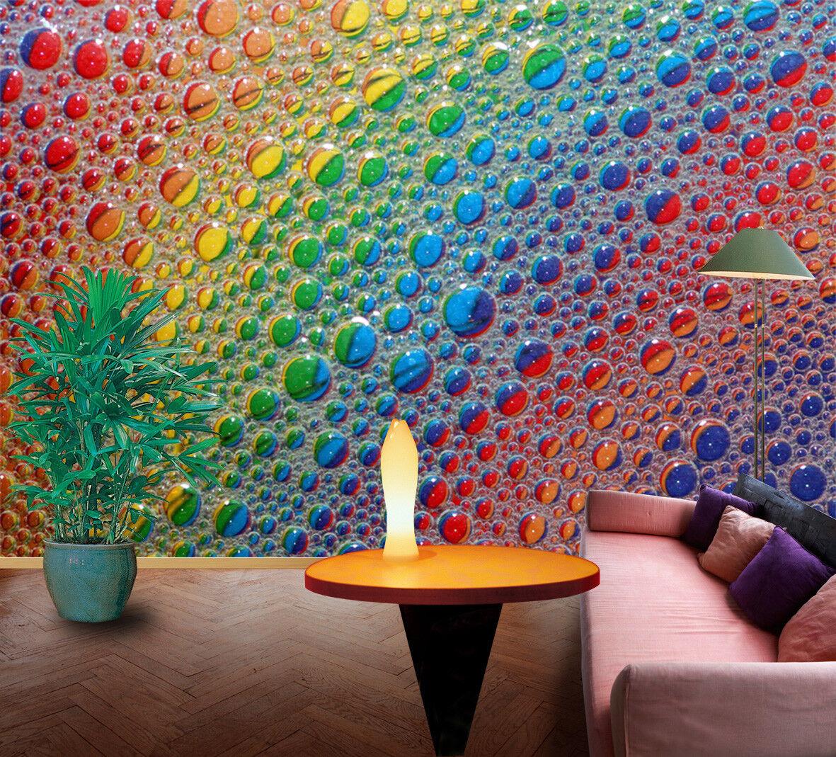 3D Rainbow Beads 865 Wall Paper Murals Wall Print Wall Wallpaper Mural AU Kyra