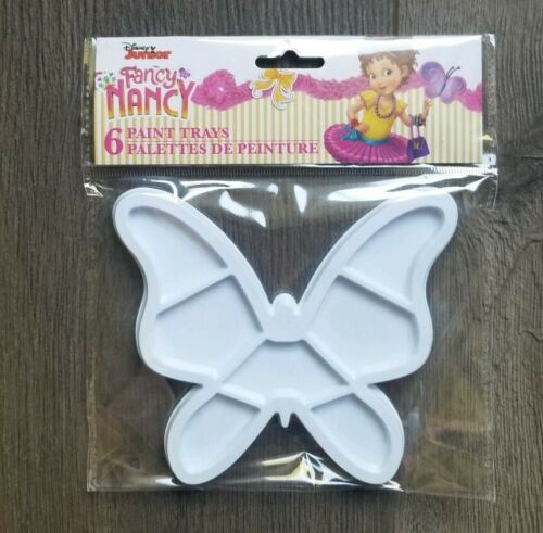 Fancy Nancy Paint Party Butterfly Plates Paint Tray Art Palette Plastic 6 Count!