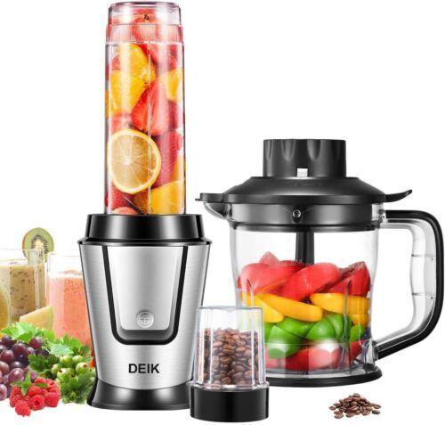 Mixer Smoothie Maker mit Kaffeemühle und 1,2 L Küchenmaschine Mini Entsafter