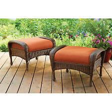 Azalea Ridge Ottomans Home and Garden Furniture Patio Chairs Stools Set of 2