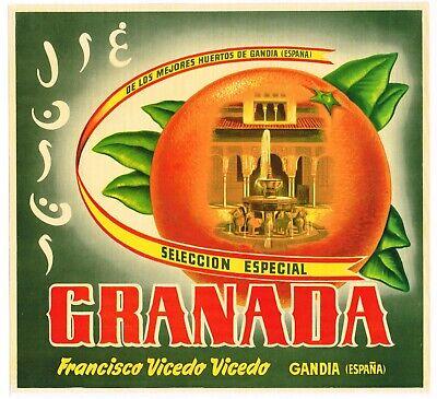 ORIGINAL CRATE LABEL SPANISH SPAIN VINTAGE MARDI GRAS CLOWN JESTER MASQUERADE