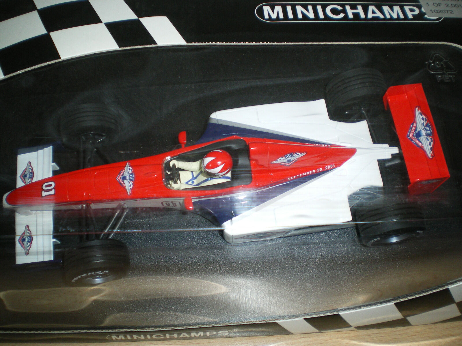 F1 US GP inaugural event car 2001 F 300 1 18 minichamps