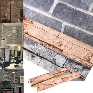 3d steinoptik vlies tapete steinwand vliestapete brick optik 3 farben 53cm 950cm ebay. Black Bedroom Furniture Sets. Home Design Ideas