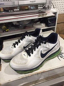 Nike Air Max Trainer 1.3 Men's Training Shoes Size 13 White / Green ~ PROMO SMPL