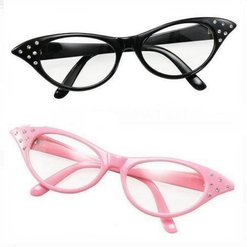 7419a1b9d1c7 Pink 50s Glasses 1950s Rock N Roll Grease Fancy Dress Hen Night Accessory  for sale online