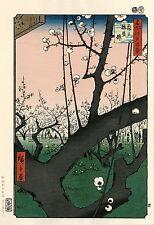 """Véritable Estampe Japonaise De Hiroshige """"Le Jardin De Pruniers..."""""""
