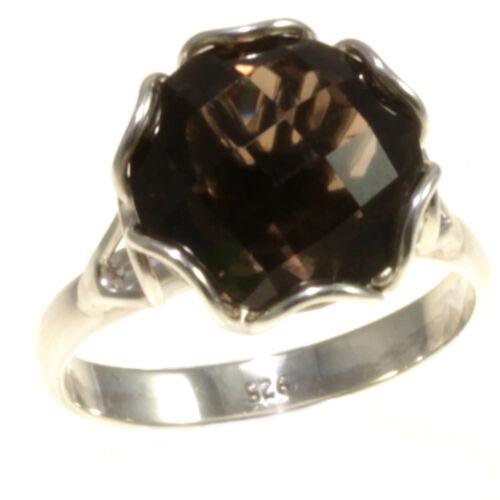 7,8 Gorgeous Smokey Topaz Rings 925 Sterling Silver Jewelry Gift Item Bali Sz 6