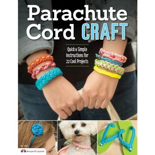 PARACHUTE CORD CRAFT-Beaded Braiding-Knots-Macrame-Paracord-Jewelry Craft Book