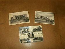 3 anciennes cartes postales : BASTOGNE région Wallonne, prov. Luxembourg - WW2