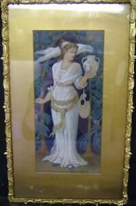 1890-F-MARGETSON-PRE-RAPHAELITE-RENAISSANCE-ARTS-amp-CRAFT-PAINTING