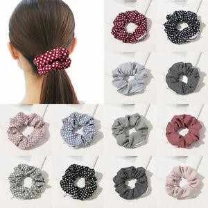 Dot-Striped-Print-Scrunchie-With-Zipper-Pocket-For-Women-Hair-Ring-Hair-Bands