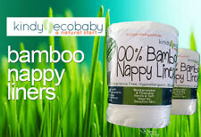 1440 X Flushable Biodegradable Baby Bamboo Nappy Liner/Insert Wipes, disposable