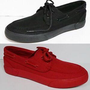 Ralph Lauren High Top Boat Shoes Black