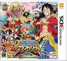 New 3DS One Piece : Super Grand Battle! X Japanese Language Region Locked / Not