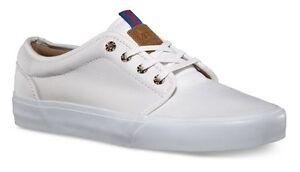2ce590c5b4e301 Vans 106 Vulcanized CA Brushed Twill True White Men s Skate Shoes ...