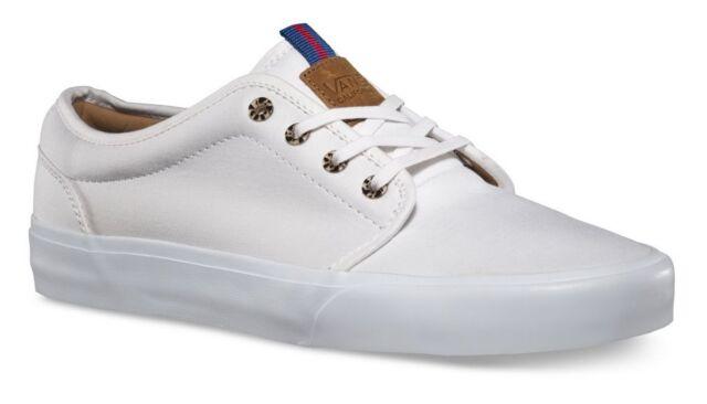 Vans 106 Vulcanized CA Brushed Twill True White Men s Skate Shoes Size 6.5 ba435cd4c673